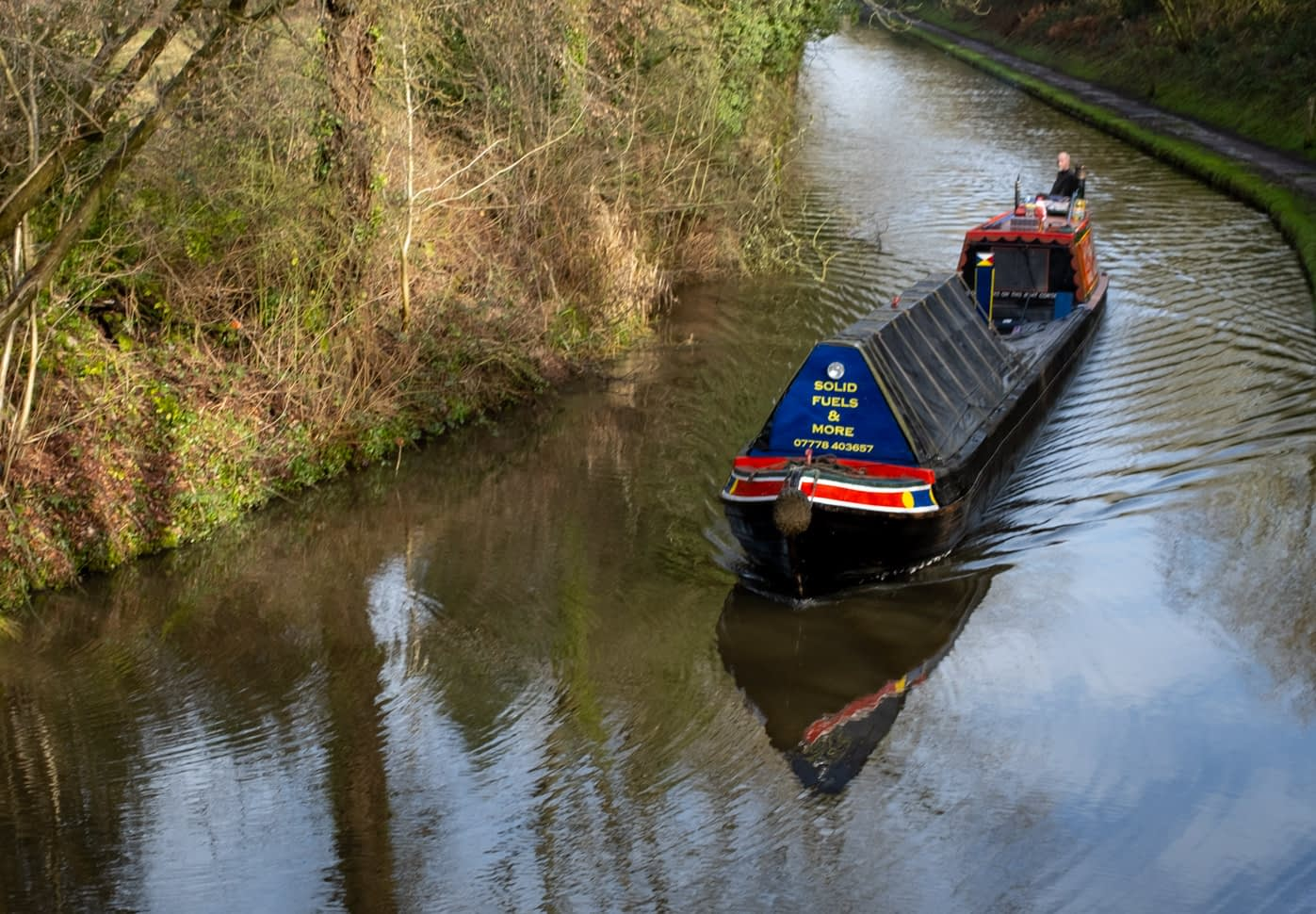 Working Canal Boat