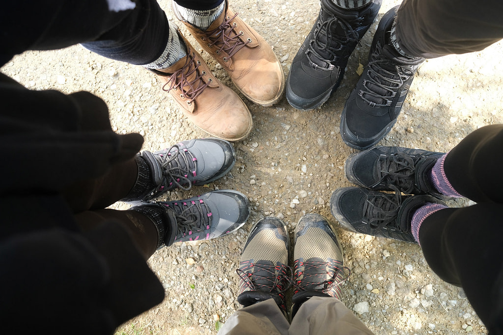 Boots together