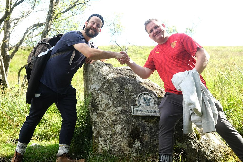 The official start of the Ben Lomond climb