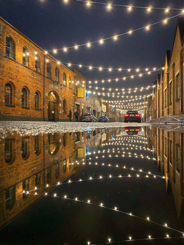 Lights in Floodgate street Digbeth