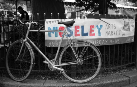 Sign in Black and White for Moseley markets