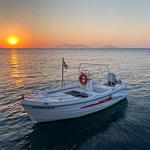 Sunrise and boat