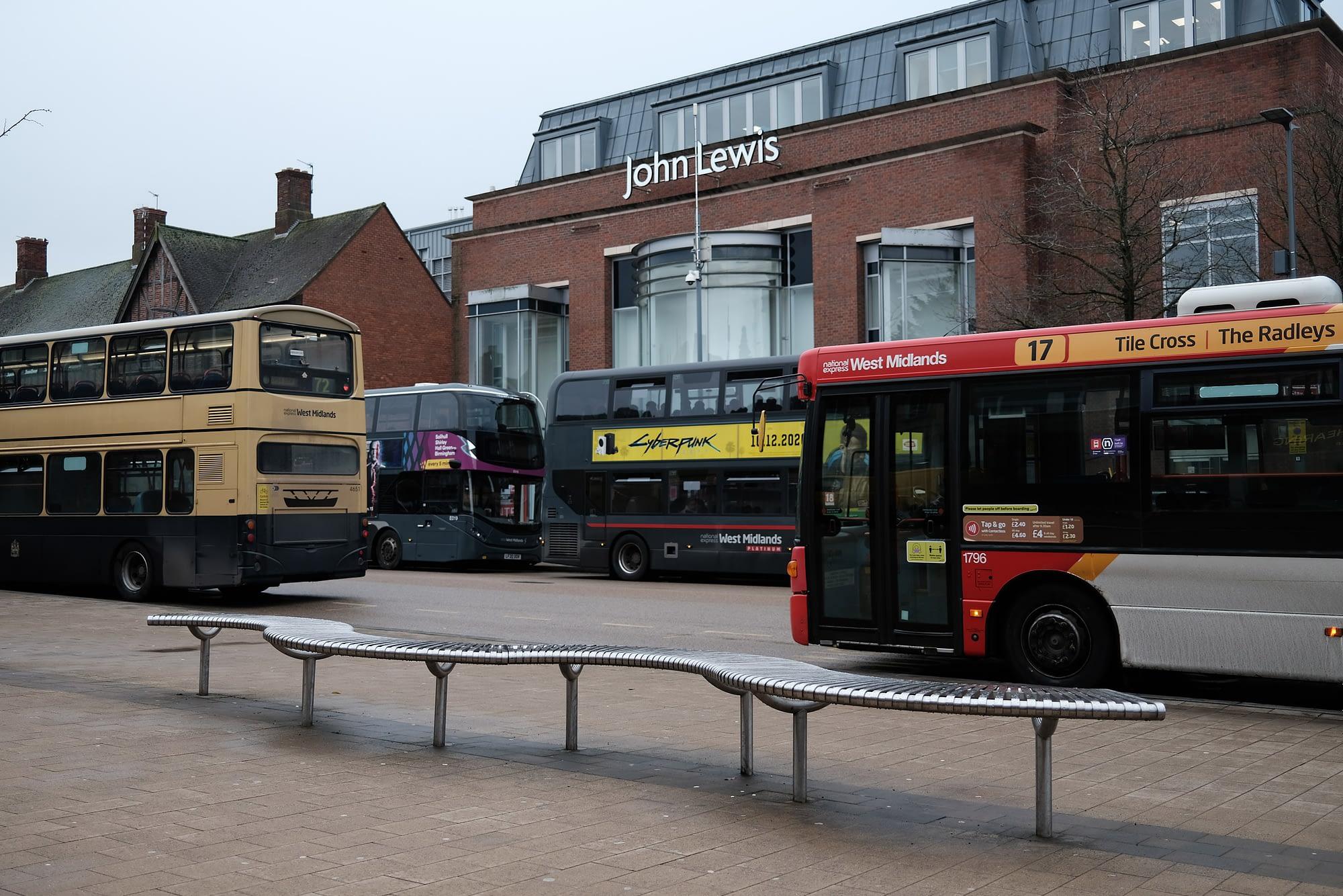 Buses everywhere