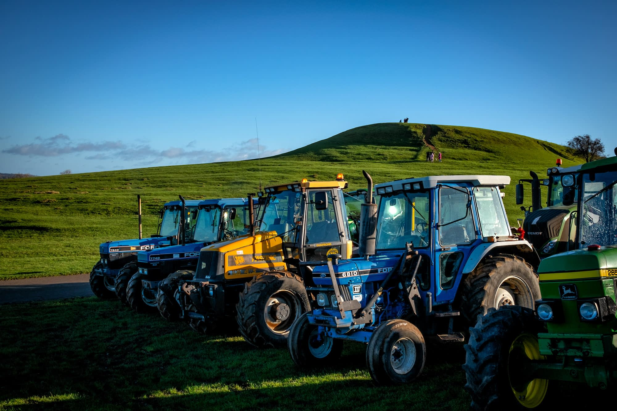 Lining up of tractors